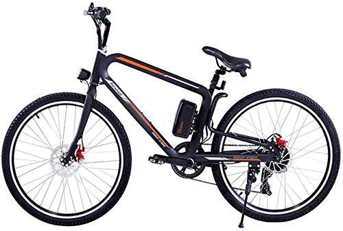Bicicletas Eléctricas, Bicicleta eléctrica de bicicleta de montaña de 26 pulgadas de 26 pulgadas con luces delanteras y traseras LED Bicicleta híbrida eléctrica para hombre / tres modos de equitación