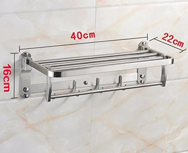 MONFS Home Badezimmer-Hardware-Handtuchhalter Das minimalistische WC-Badgestell Gantry Making Lcher 40  16  22