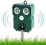 2021 Ultraschall Katzenschreck Tiervertreiber, Frequenzbereich 9kHz-70kHz mit Batteriebetrieben und Blitz, Ultraschall Hundeschreck Katzenabwehr Tiervertreiber für Katzen, Hunde,Vögel