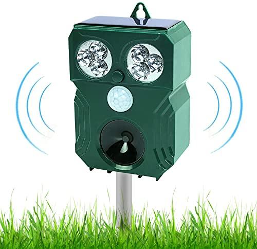 2021 Ahuyentador de animales por ultrasonido, rango de frecuencia 9kHz-70kHz, con batería y flash, repelente ultrasónico para perros, repelente de insectos para gatos, perros pájaros