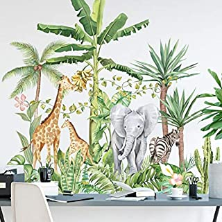 CCYUANG Autocollants Muraux Bande Dessin/ée Girafe Autocollant Fond Enfants Chambre Hauteur M/ètre M/ètre R/ègle D/écoration De La Maison Mur Art Autocollant