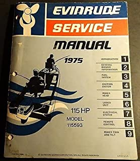 1975 EVINRUDE OUTBOARD 115 HP SERVICE MANUAL P/N 5098 (060)