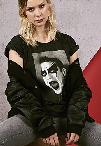 MERCHCODE Ladies Robbie Williams Clown Tee T-Shirt Femme, Charcoal, L