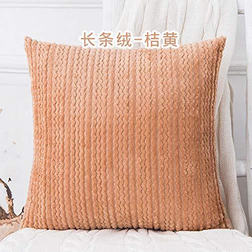 YAL Housse de coussin en peluche 45 x 45 cm, Orange, 45 x 45 cm