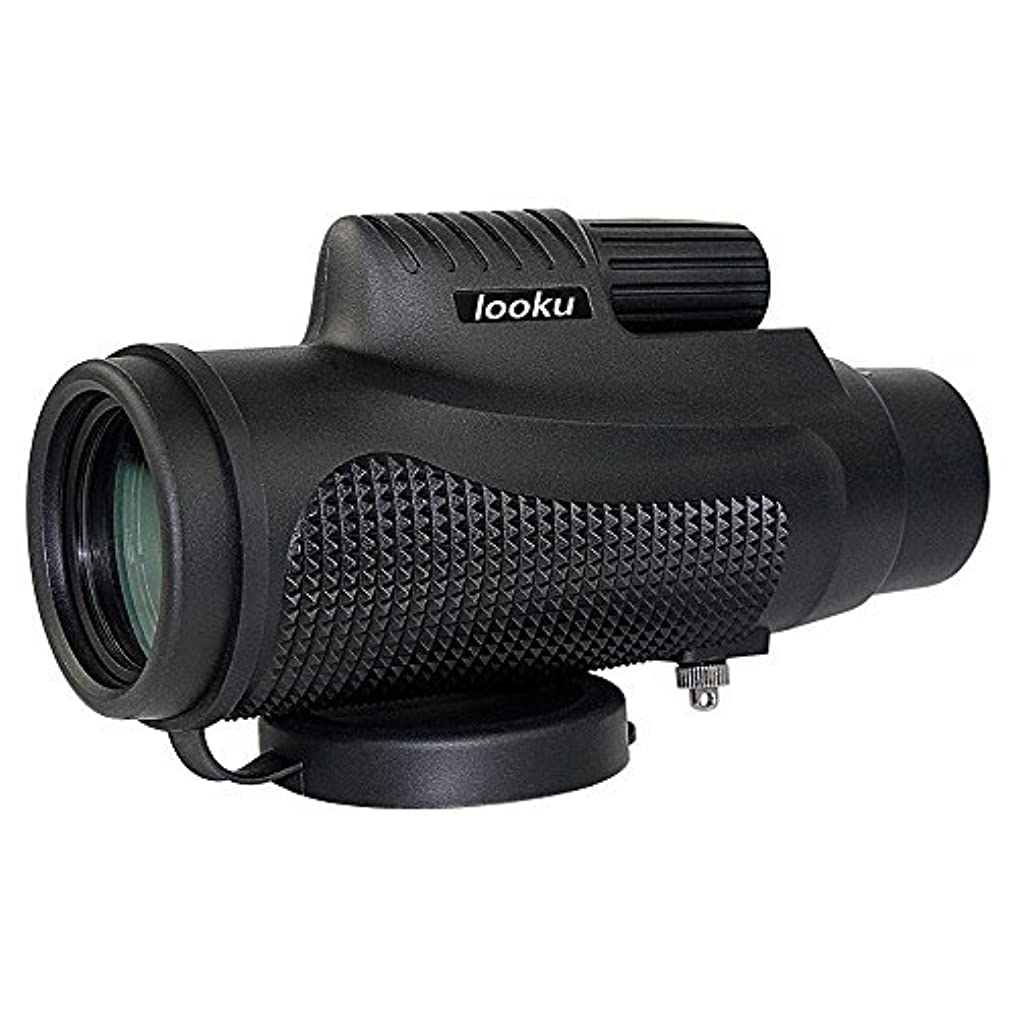 労働おもてなし住人Compact Lightweight 10X42 Monocular Spotting Scope for Bird Watching Hunting Hiking Camping Trip [並行輸入品]