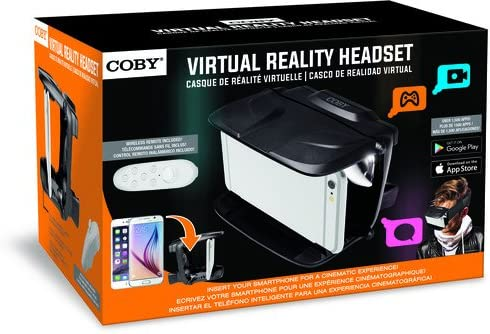 Coby CVG-01-RC Virtual Reality Goggles with Wireless Remote