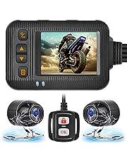 オートバイレコーダー 1080pHDカメラ 超 前後同時録画 夜間録画 IP67防水 120°広角 2.0インチディスプレイ付き 日本語メニュー リモコン付き