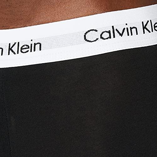 Calvin Klein Cotton Stretch Trunk 3Pk Bóxer, Multicolor (Black/White/Grey Heather), M (Pack de 3) para Hombre