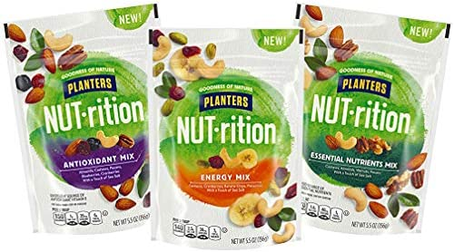 NUT rition Trail Mix Variety Pack Energy Mix Antioxidant Mix Essential Nutrients Mix Pack of product image