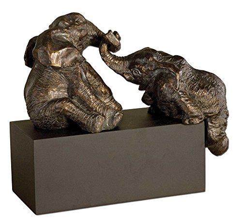 Vhomes Lights Pachyderms Bronze Figurines The Playful Collection Figurines & Sculptures