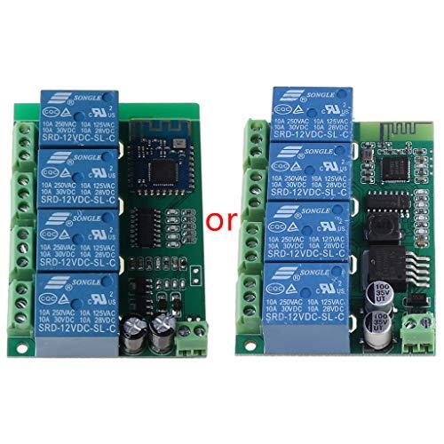 PTMD Módulo de interruptor de relé Bluetooth de 4 canales con control remoto de la aplicación de piezas de repuesto para teléfono móvil