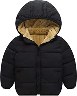 TOURME Kids Winter Jacket Fleece Lined Snow Down Coat for Toddler Boys Girls