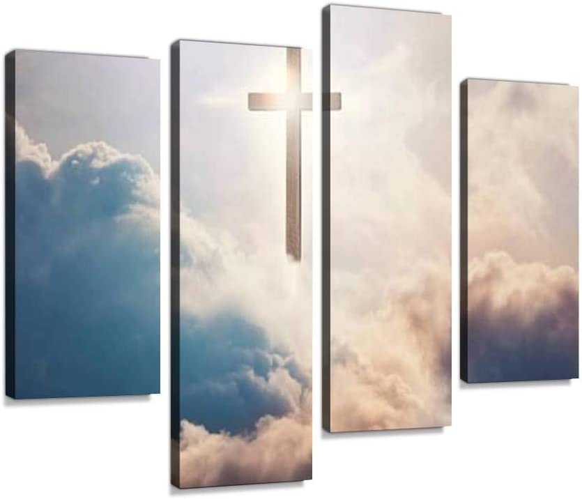 Cross Canvas Wall Art Hanging Paintings Artwork Modern Abstract Max 89% OFF Finally resale start