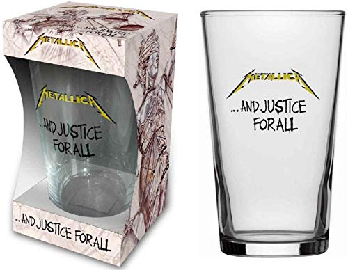 Metallica Glas And Justice For All - Vaso de cerveza, tamaño XL