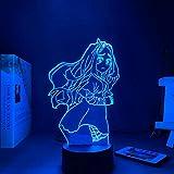 Lámpara de ilusión 3D Luz de noche Led Anime My Hero Academia Eli Decoración de dormitorio Regalo de cumpleaños Oficina en casa Restaurante Decoración de fiesta Niño Niña