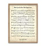 Refinery Number One His Eye is On The Sparrow - Unframed Hymn Wall Art Print
