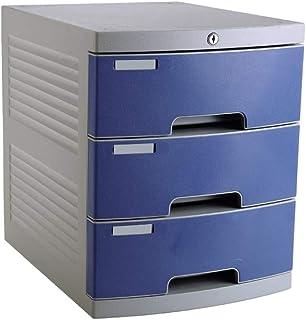 Armoire à fichiers Bureau Papeterie Armoire De Bureau Trieuse De Papier Armoire 3 Tiroirs En Plastique Armoire De Sécurité...