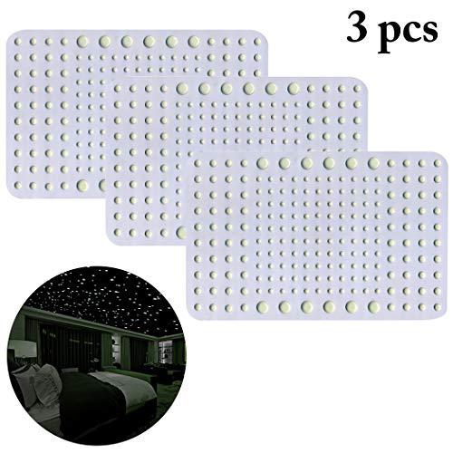 Justdolife 3PCS Muurstickers in het donker oplichtende plafond Decor Luminous muurstickers voor kinderen