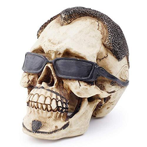 Cráneo decoración Creativa Realista Humana, la Personalidad simulada Resina cráneos del Arte Modelo Adornos for el hogar Bar Ciencia Juguetes educativos, Crear una atmósfera WTZ012