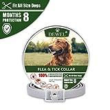 DEWEL 63cm Zecken Halsband für Hunde und Katze