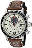 Citizen Men's 'Eco-Drive' Quartz Stainless Steel and Leather Casual Watch,...