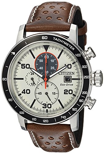 Citizen Men's 'Eco-Drive' Quartz Stainless Steel and Leather...