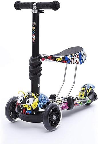 envío rápido en todo el mundo WYFDM Niño Scooter Estilo Graffiti, 3 Rueda 3-en-1 Micro Micro Micro Mini Kick Scooter con Asiento Extraíble, Manillar Ajustable para Niños,3  las mejores marcas venden barato
