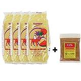 Semoule de blé dur de qualité supérieure 1KG - Grain de taille Moyenne - Epices pour couscous offertes - Marque Légumor (1 sachet)