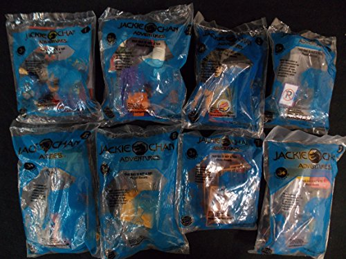BURGER KING KID'S CLUB WB JACKIE CHAN ADVENTURE Complete Set of 5, 2001