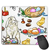 Easter Collection. Non-Slip Rubber-Based Mouse Pad, Thick Seams, Ideal For Laptop Offices
