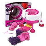 Liberty Imports Girls Crafts Smart Weaver Knitting Kit Machine Educational Toy for Kids (Pink, White)
