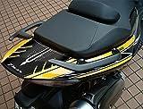 Adhesivo Compatible para Tmax 500 Stickers 3D Coleta para Yamaha T MAX 2008-2011 - Negro-Blanco