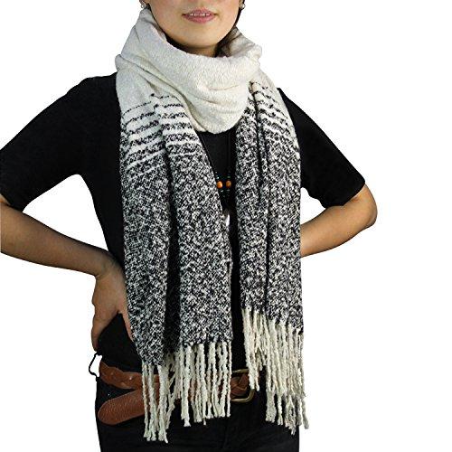 Glamexx24 XXL sjaal doek gezellige warme geruite sjaal mooie dames poncho sjaal oversized deken sjaal