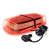 Xprite 240 LED Red Roof Top LED Emergency Strobe Lights Mini Bar for Cars Trucks Snow Plow Vehicles Warning Caution Lights w/Magnetic Base