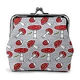 Monederos de seta roja con 43 hebillas, bolsa de monedero con cierre de beso