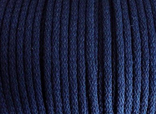5 m Baumwollkordel 5 mm (dunkel blau / marine )