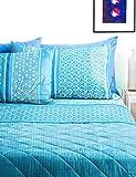 Lenzuola matrimoniali completo Bassetti Dream KALEO in cotone variante Azzurro