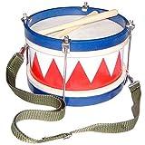 Schoenhut Tunable Drum - Hand Drum with 2 Drum Sticks and Adjustable Neck Strap - Kids Instruments Develop Listening Skill - Drum for Toddlers with Kids Drum Sticks for 3 Years and Up - Drums for Kids