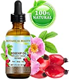 ROSEHIP OIL 100% Pure/Natural/Refined/Undiluted for Face, Body, Hair and Nail Care. 2 Fl.oz.- 60 ml.