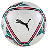 Puma teamFINAL 21 Lite Ball 350g Ballon De Foot Mixte Adulte, White-Rose Red-Ocean Depths Black, 5