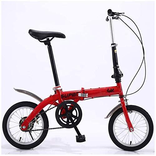 Buitensport 14in vouwfiets, lichtgewicht aluminium frame, Opvouwbaar Compact Fiets met V-Style Brakes en slijtvaste Band voor volwassenen