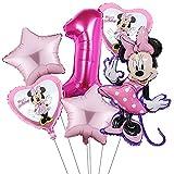 Mickey Party Globos,Decoraciones de cumpleaños de Mickey Mouse,Mickey y Minnie Party Decorations, Happy Birthday Party Supplies para Decoraci ón de Niños