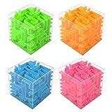 yhdcc44 Hucha de mano con diseño de laberinto, 4 unidades, para niños, soporte para dinero para niños y adultos