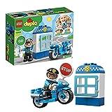 LEGO 10900 DUPLO Polizeimotorrad, Bauset mit Polizisten als Minifigur, Spielzeug für Kleinkinder - LEGO