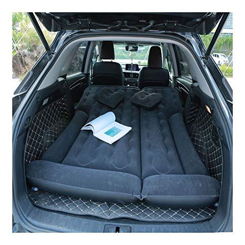 Guoziya Air Matelas Lit SUV Universel Arrière Rangée Portable Sleeping Airbed Flocage Multi-Fonctions Matelas Gonflable, 163X132cm (Couleur : Noir)