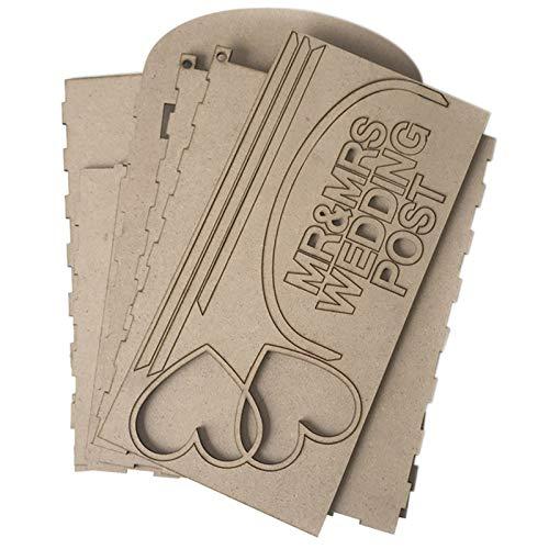 Casinlog Solide Kiefer Komplett Montiert Personalisierte Hochzeitskarte Briefkasten Royal Mail Style DIY Hochzeit Geschenk Karte Box Hochzeit Dekor Zubeh?R mit Schloss