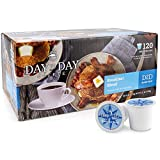 Day To Day Coffee 120 Count Breakfast Blend Single Serve Coffee Cups, Coffee K cups for Keurig, Box of 120 Count Breakfast Blend Medium Roast Coffee Pods