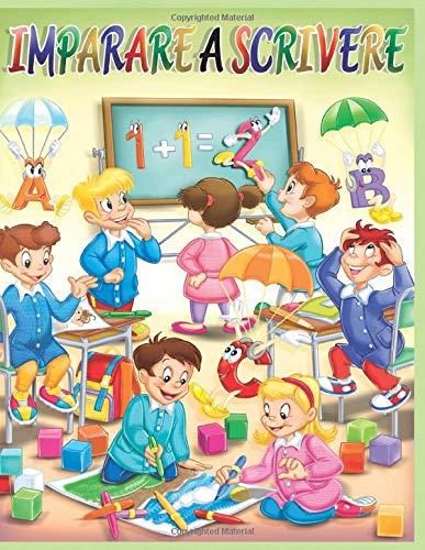 Imparare a scrivere: impariamo l'alfabeto parole e numeri attraverso attività di pregrafismo con giochi educativi 6 anni da colorare, forme disegno ... esercizi scuola primaria primi passi