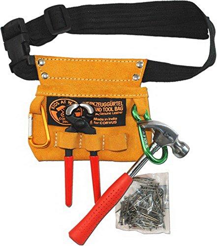 Corvus A600112 Werkzeuggürtel Kids at Work mit Zubehör