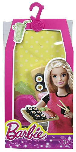 Mattel Barbie Doll Sushi Barbie Mini House Accessory Pack - Sushi Set